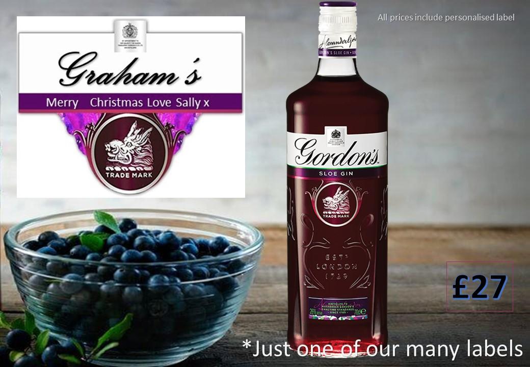 Gordons Sloe Gin >> Gordons Personalised Sloe Gin Personalised Drinks Ordering Online