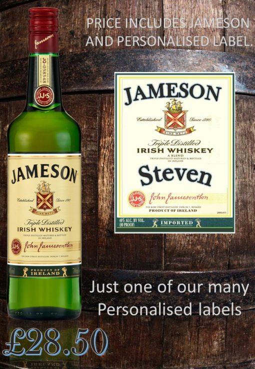 Jameson Irish Whiskey personalised label