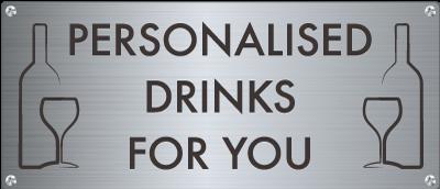 personalised drinks